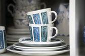 Colorful porcelain cups — Foto de Stock
