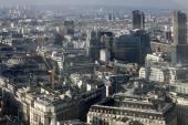 Luftbild von london — Stockfoto
