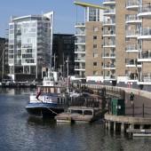 Limehouse basin f London — Stock Photo