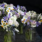 Bouquets of white narcissus — Stock Photo