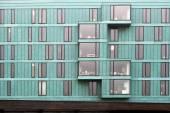 Fragment of a facade of a building — Stock Photo