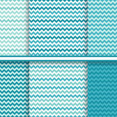 Chevron seamless patterns set - vector background texture in soft blue colors — Stock Vector