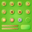 Постер, плакат: Game design interface green set