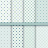 Set of eleganet polka dot seamless patterns (tiling) — Stock Vector