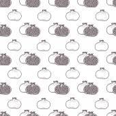 Garnet fruits vector seamless pattern — ストックベクタ