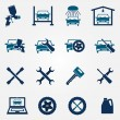 Auto service and repair flat icon set — Stock Vector #61571857
