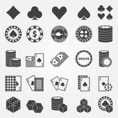 Poker icons set — Stock Vector