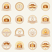 Photography vector labels and badges — 图库矢量图片