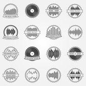 Sound vector logo and emblem set — Stock Vector