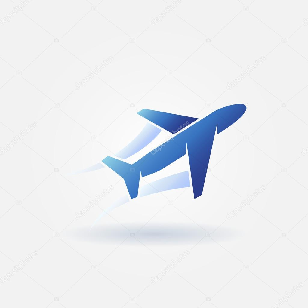 avi u00f3n despegue azul vector logotipo vector de stock Plane Vector paper airplane vector free