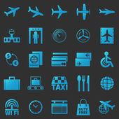 Airport icons vector set — Stock Vector