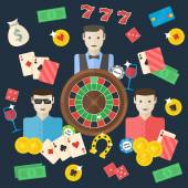 Casino flat illustration — Stock Vector