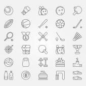 Iconos de línea deporte — Vector de stock