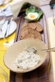 Forshmak of herring in the restaurant — Stock Photo