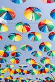 Rainbow umbrellas — Stock Photo