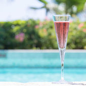 Glass of Kir Royal — Stock Photo