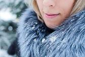 Lips fur snow — Stock Photo