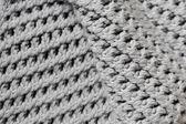 Ręcznie szary dziania wełny tekstura tło — Zdjęcie stockowe