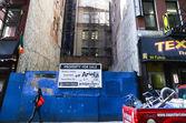 Under construction in NY — Stock Photo