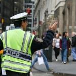 Traffic policeman in NY — Stock Photo #69820801