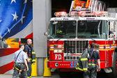 Ten house fire station in NY — Stock Photo