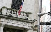 NYSE on Wall street — Stock Photo
