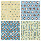 Cute Hand Drawn Seamless Pattern Set: Cross (plus sign) and Circle — Stock Vector