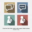 Постер, плакат: Basic Chat Icon Set: Chat Status Add Contact Block Contact
