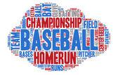 Word Cloud - Baseball Championship — Stock Vector