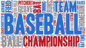 Word Cloud - Baseball Championship, Banner — Stock Vector