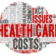 Word Cloud - Health Care Issues - Cloud Shape — Vetor de Stock  #69327951