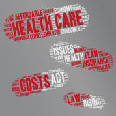 Word Cloud - Health Care Issues - Pills — Wektor stockowy