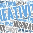 Word Cloud - Creativity and Inspiration - Isolated Banner — Stock Vector #69409641