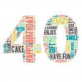 Word Cloud - Happy Birthday Celebration - 40 — Stock Vector