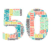 Word Cloud - Happy Birthday Celebration - 50 — Stock Vector