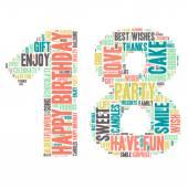 Word Cloud - Happy Birthday Celebration - 18 — Wektor stockowy