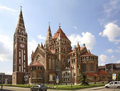 Votive church in Szeged. Hungary — Stock Photo