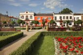 Marketplace in Janow Lubelski. Poland — Stock Photo