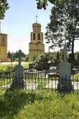 Cemetery near church of Saints Cyril in Biala Podlaska. Poland — Stock Photo