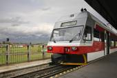 Railway station in Poprad.  Slovakia — Stock Photo