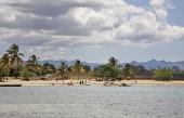 Beach in Rancho Luna. Caribbean Sea. Atlantic Ocean — Stock Photo