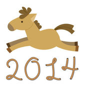 Year of The Horse — Stock Vector