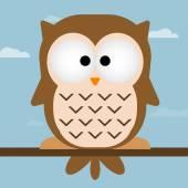 Cute owl vector illustration — Stock Vector
