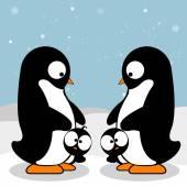 ペンギンの家族 — ストックベクタ