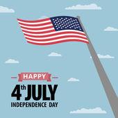 Ημέρα ανεξαρτησίας Αμερική — Διανυσματικό Αρχείο