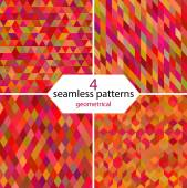 Geometrical seamless patterns — Stock Vector