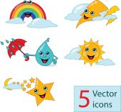 Icon weather lovely nurseries — Stock Vector