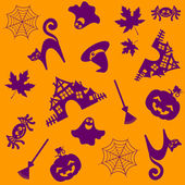 Halloween pattern. Vector illustration — Stock Vector