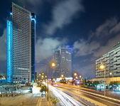 Tel Aviv at Night — Stock Photo