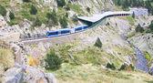 Rack railway of Vall de Nuria, Spain — Stock Photo